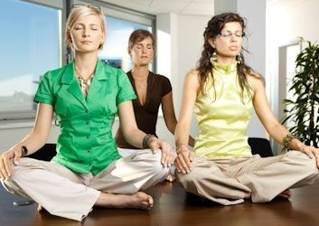 Meditating Employees